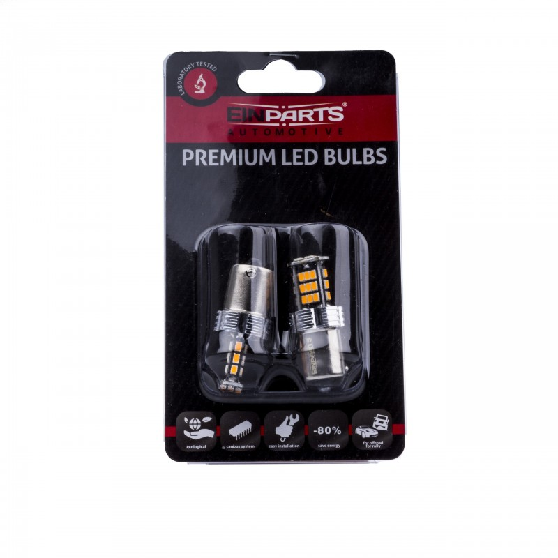 BLISTER 2ΤΕΜ. EPL151 ΛΑΜΠΑ BAU15S PY21W 30SMD 3020 CANBUS